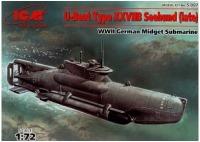 Сборная модель ICM U-Boat Type XXVII Seehund (late) (1:72)