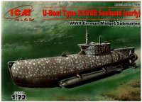 Сборная модель ICM U-Boat Type XXVII Seehund (early) (1:72)