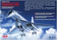 Сборная модель ICM Tupolev-144 (1:144)