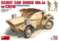 Сборная модель MiniArt Scout Car Dingo Mk.1a w/Crew (1:35)