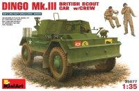 Сборная модель MiniArt Dingo Mk.III British Scout Car w/Crew (1:35)