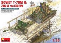Фото - Сборная модель MiniArt Soviet T-70M and ZIS-3 w/Crew (1:35)