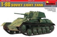 Сборная модель MiniArt T-80 Soviet Light Tank (1:35)