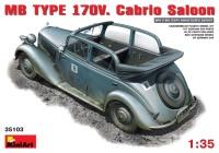 Сборная модель MiniArt MB TYPE 170V Cabrio Saloon (1:35)
