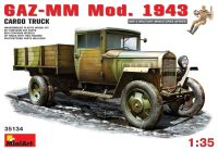 Фото - Сборная модель MiniArt GAZ-MM Mod. 1943 Cargo Truck (1:35)