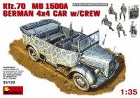 Фото - Сборная модель MiniArt Kfz.70 MB 1500A German 4x4 Car w/Crew (1:35)