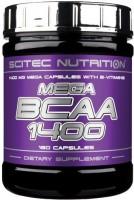 Фото - Аминокислоты Scitec Nutrition Mega BCAA 1400 180 cap