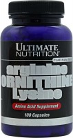 Фото - Амінокислоти Ultimate Nutrition Arginine/Ornithine/Lysine 100 cap