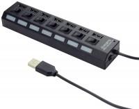 Картридер/USB-хаб Gembird UHB-U2P7-02