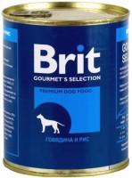 Корм для собак Brit Canned Beef/Rice 0.85 kg