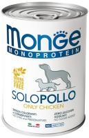 Корм для собак Monge Monoproteico Solo Pate Chicken 0.4кг
