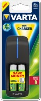 Фото - Зарядка аккумуляторных батареек Varta Mini Charger + 2xAA 2100 mAh