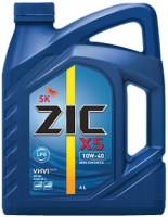 Моторное масло ZIC X5 10W-40 LPG 4L