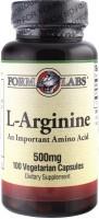 Фото - Аминокислоты Form Labs L-Arginine 100 cap