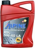 Моторное масло Alpine RSL 5W-40 LA 4л