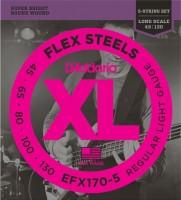 Струны DAddario XL FlexSteels 5-String Bass 45-130