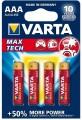 Varta Max Tech  4xAAA