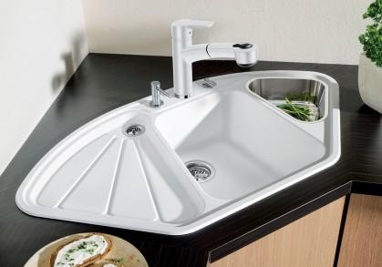 Посудомойка — главная помощница: ТОП-5 угловых гранитных моек для домашней кухни
