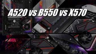 Материнские платы AMD A520, B550, X570 — чем отличаются?